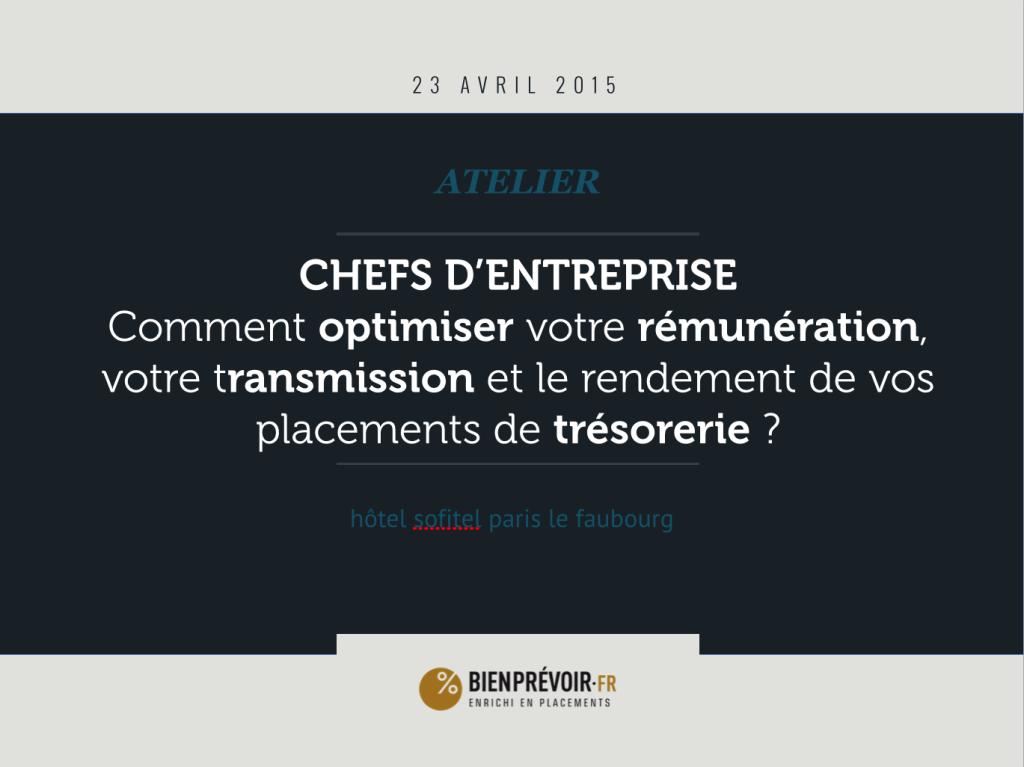 copie ecran slide 1ere page atelier chef entreprise patrimoine chef entreprise paris 23 avril 2015 sofitel