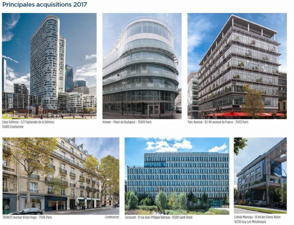 edissimo acquisitions immobilieres 2017
