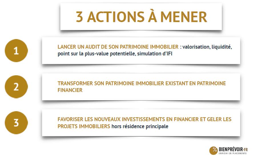Reforme ISF 3 actions à mener