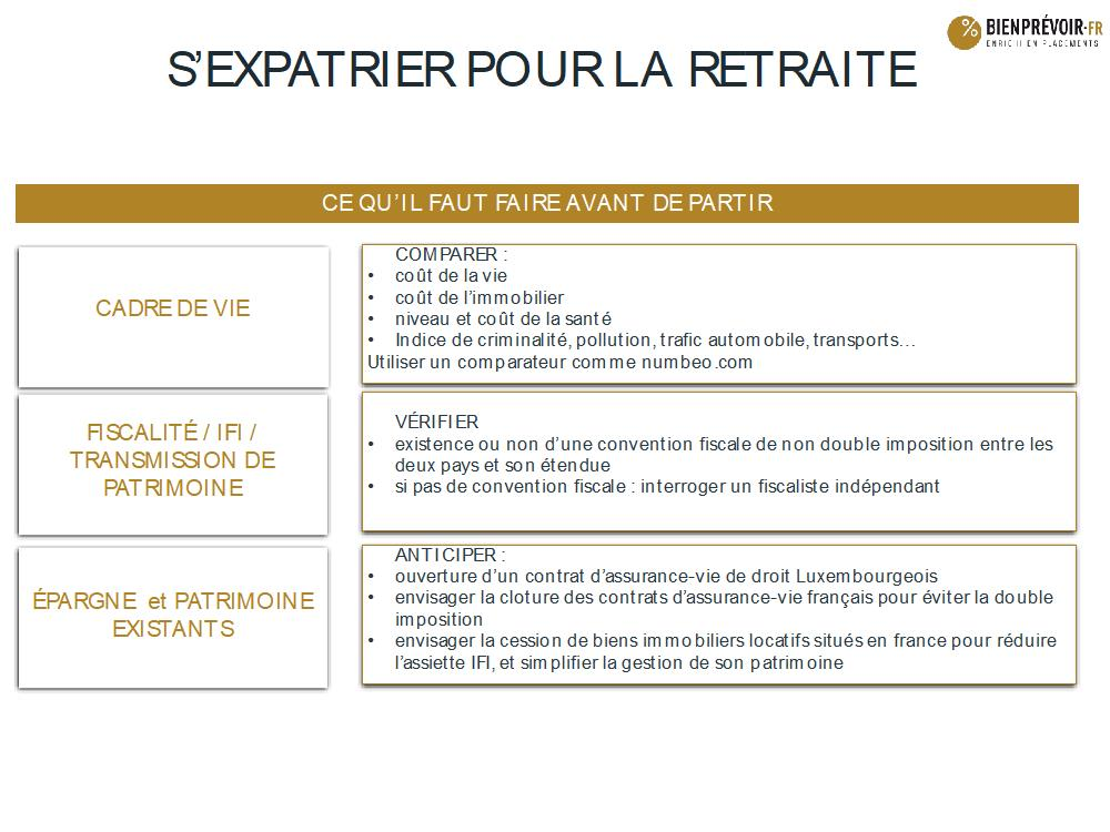 retraite expatriation recommandations