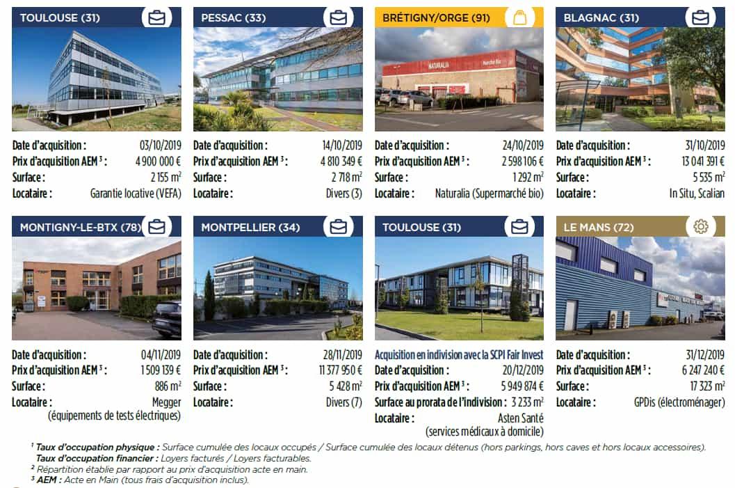 exemples investissement scpi vendome regions